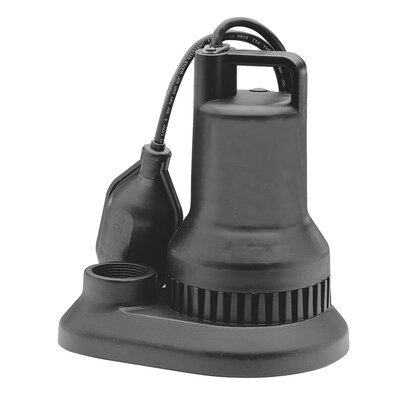 38 GPM Tether Float Switch Thermoplastic Sump Pump by WAYNE
