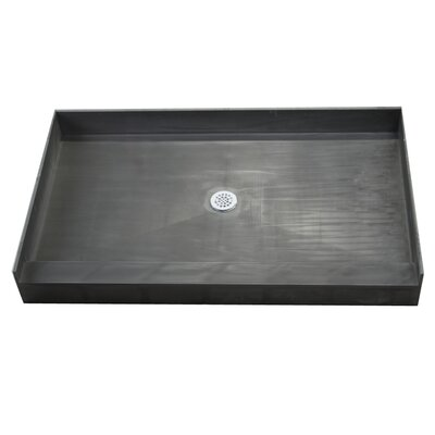 Single Curb Rectangular Shower Base Product Photo
