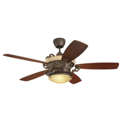 "56"" Strasburg 5 Blade Ceiling Fan with Remote Product Photo"