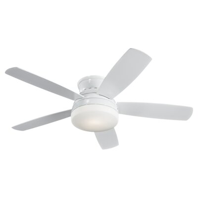 "52"" Traverse 5 Blade Semi-Flush Ceiling Fan Product Photo"