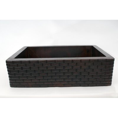 "33"" x 22"" Handmade Farmhouse Single Well Large Bricks Kitchen Sink Product Photo"