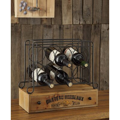 Wine Country 6 Bottle Tabletop Wine Rack by Crestview