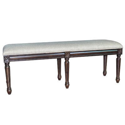 crestview the hampton linen accent bedroom bench reviews