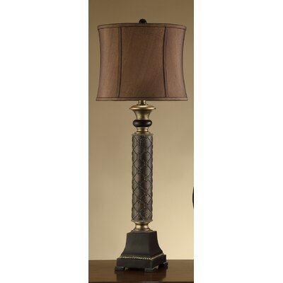 "Crestview Collection French Fleur 42"" H Table Lamp with Oval Shade"
