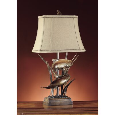 "Crestview Collection Upstream 32"" H Table Lamp with Bell Shade"