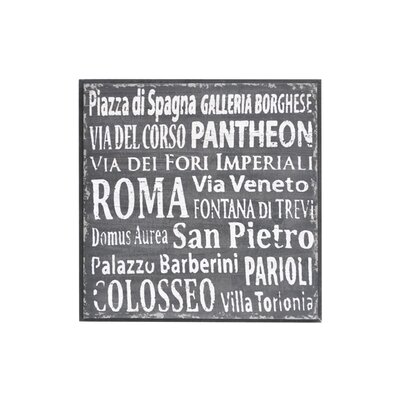 Crestview Collection Rossano Textual Art Plaque