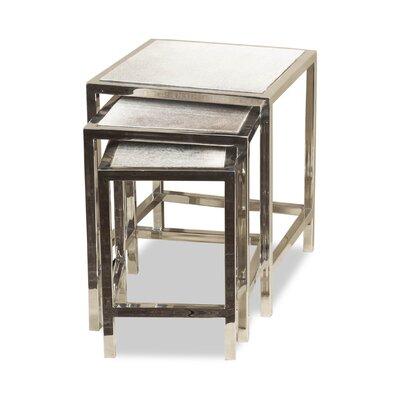 Dakota 3 Piece Hide Nesting Tables by Interlude