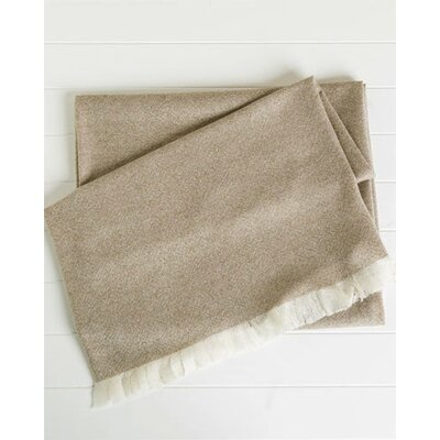 Cashmere Solid Throw by Belle Epoque