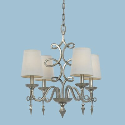 Forged Iron 4 Light Chandelier by AF Lighting