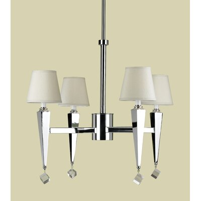 AF Lighting Margo 4 Light Chandelier with Poly Silk Shade