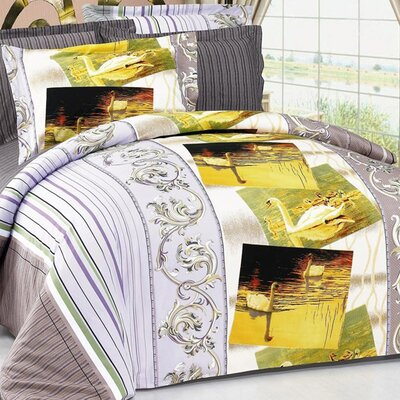 Arya Swan 6 Piece Duvet Cover Set