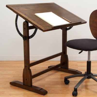 Vintage Wood Drafting Table by Studio Designs