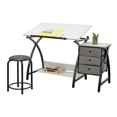Studio Designs Center Comet Writing Desk With Stool