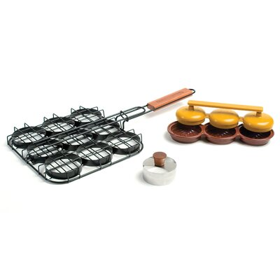 Deluxe 3 Piece Mini Burger Set by Charcoal Companion