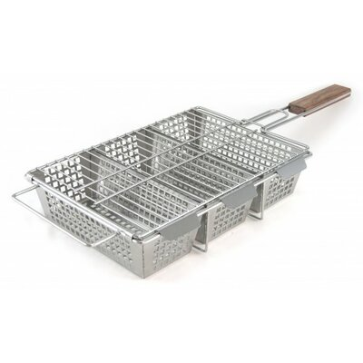 Stainless Steel 3-Compartment Basket by Charcoal Companion