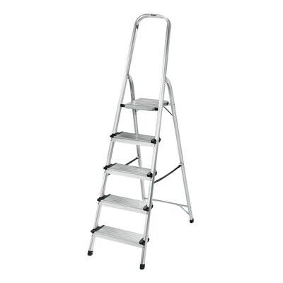 Polder 6 ft Aluminum Step Ladder with 225 lb. Load Capacity