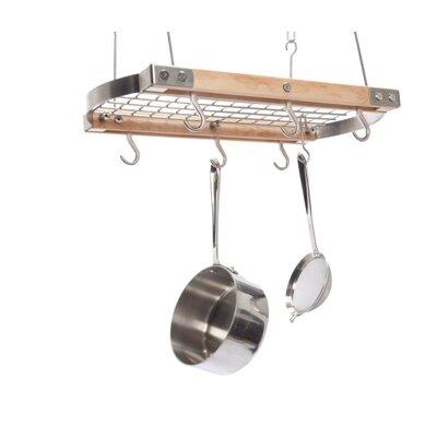 J.K. Adams Mini Gray Oval Ceiling Hanging Pot Rack