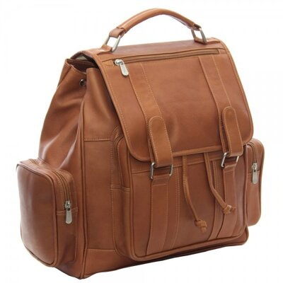 Double Loop Flap Over Laptop Backpack by Piel