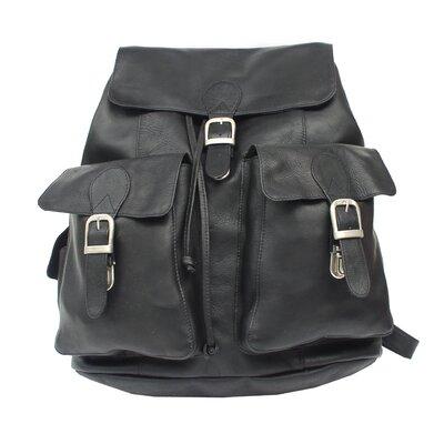 Adventurer Large Buckle Flap Backpack by Piel