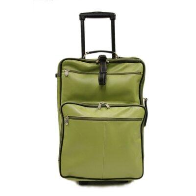 """Piel Leather 22"""" Wheeled Traveler Suitcase"""