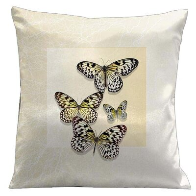 Lama Kasso Botanic Butterflies Microsuede Throw Pillow