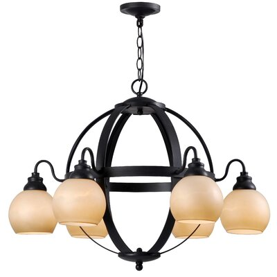 Magellen 6 Light Globe Chandelier by World Imports Lighting