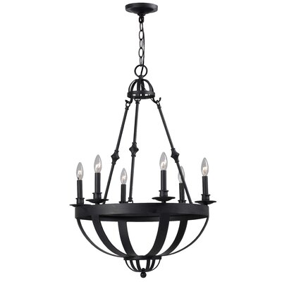 Magellen 6 Light Candle Chandelier by World Imports Lighting