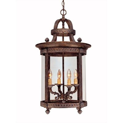 French Country 4 Light Outdoor Hanging Lantern/Pendant Product Photo