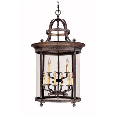 French Country 9 Light Outdoor Hanging Lantern/Pendant Product Photo