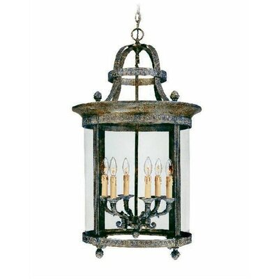 World Imports French Country 6 Light Outdoor Hanging Lantern