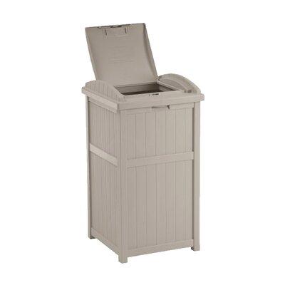 Suncast 33 Gallon Outdoor Trash Container Hideaway