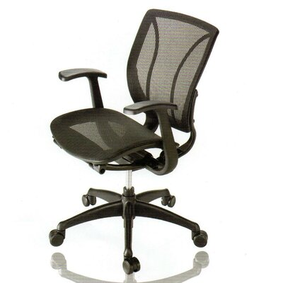 Mid-Back Mesh Conference Chair with Arm by New Spec