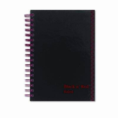 Black n' Red/John Dickinson Poly Twinwire Notebook, Ruled, 5-7/8 x 4-1/8, White, 70 Sheets/Pad
