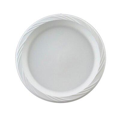 "Chinet 9"" Round Plastic Plates in White"