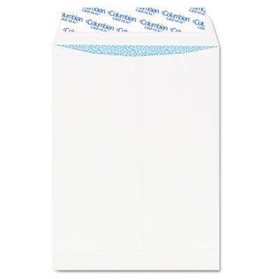 Columbian Envelope Grip-Seal Security Tinted Catalog Envelopes, 10 x 13, 28lb, White Wove, 100/Box