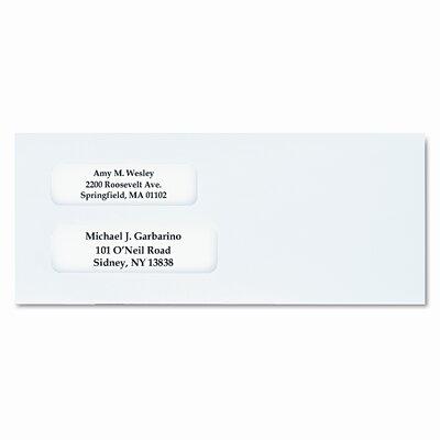 Columbian Envelope Dubl-Vue Redi-Seal Window Envelopes, Paper, 4 1/8 x 9 1/2, White, 500/bx