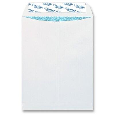 Columbian Envelope Grip-Seal Security Tinted Catalog Envelopes, 9 x 12, 28lb, White Wove, 100/Box