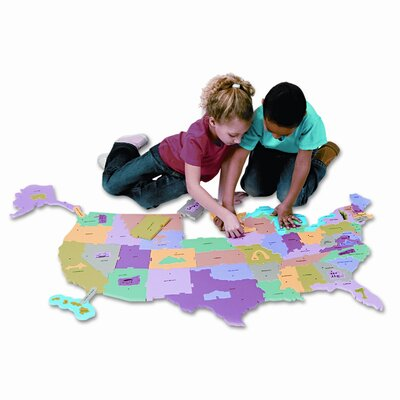 Creativity Street® Wonderfoam Giant U.S.A Puzzle Map, 73 Pieces