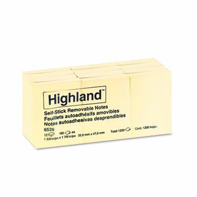 Highland™ Self-Stick Pads, 12 Pads/Pack
