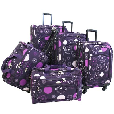 Fireworks 5 Piece Spinner Luggage Set by American Flyer