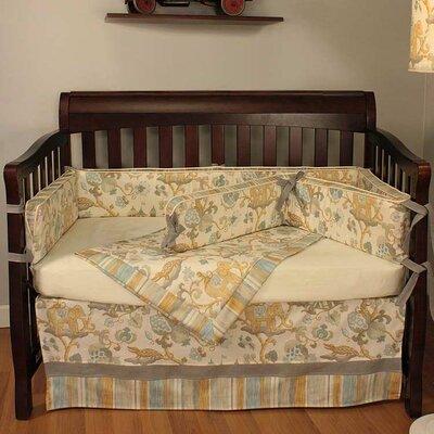 Hoohobbers Cirque Blue 4 Piece Crib Bedding Set