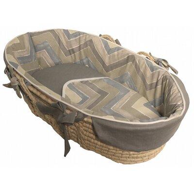 Chevron Tailored Moses Basket by Hoohobbers