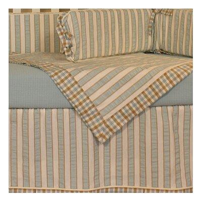 Spa Blue Crib Blanket by Hoohobbers