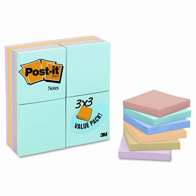 Post-it® Pastel Value Pack Note Pad, 24 Pack