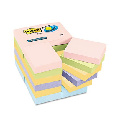 Post-it® Value Pack Pastel Note Pad, 24 Pack