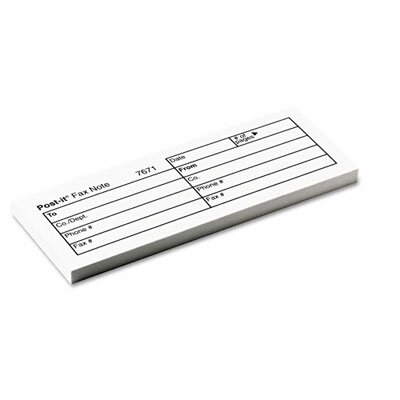Post-it® Fax Transmittal Note Pad, 12 Pack