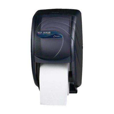 San Jamar Duett Toilet Tissue Dispenser in Black Pearl