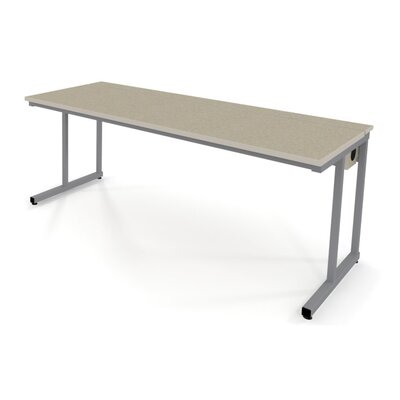 Fleetwood Wide Training Table with Flip-Top Wire Management and Adjustable Height