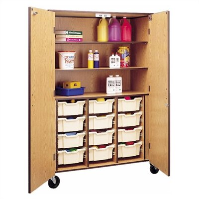 "Fleetwood 72"" H Storage Cabinet with 3 Shelves and Optional Trays"