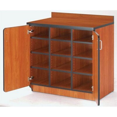 Fleetwood Illusions Cubicle Cabinet with Doors and Cubbies
